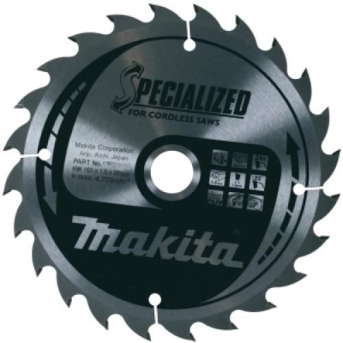 Пильный диск для дерева,165x20x1x24T (для аккум. инструмента), MAKITA, B-31158
