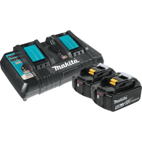 Аккумулятор BL1850B 5.0 Ah (2шт) + зарядное DC18RD Makita (191L75-3)