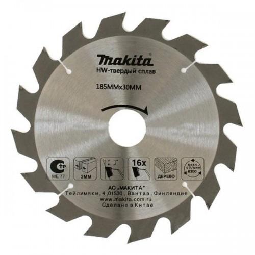 Пильный диск для дерева,185x30/20x3.2x16T, Makita, D-51421