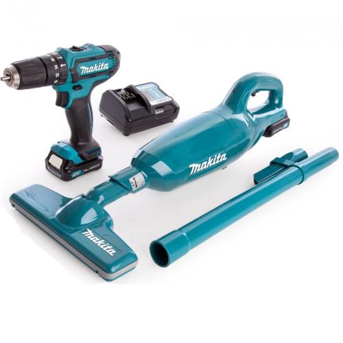 Набор аккумуляторного инструмента шуруповерт+пылесос, Makita CLX 213 X1 (CLX213X1)