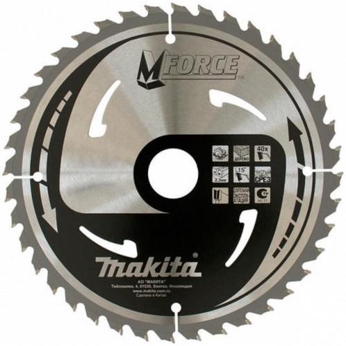 Пильный диск по дереву Z40 M-Force Makita B-31360 (210*30*2.3мм)