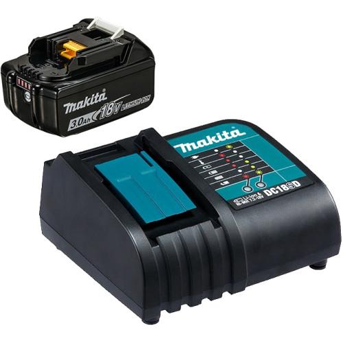 Набор аккумуляторов BL1830B 3.0 Ah (1шт.) + зарядное DC18SD MAKITA (191A23-6)