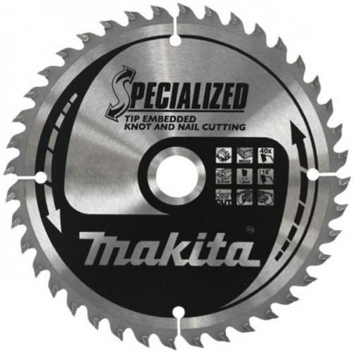 Пильный диск для дерева,165x20x1.7x48T (для погружных пил), MAKITA, B-43907