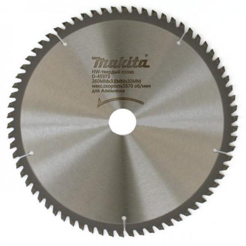 Пильный диск для алюминия 260x30x3x70T, MAKITA, D-45973