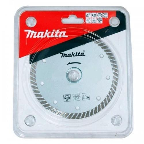 Алмазный диск сплошной рифленый по граниту Turbo 125x22,23, MAKITA, B-28058