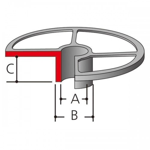 Направляющая втулка Makita 164470-8  (копировальное кольцо для фрезеров Makita 3612C/3620/RP0900/1800/1801/2300/2301)