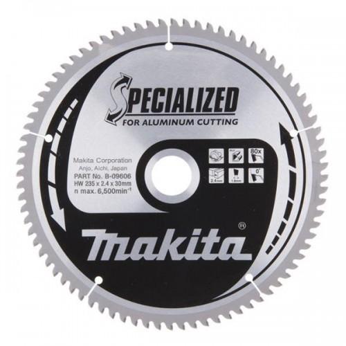 Пильный диск для алюминия,235x30x1.8x80T, MAKITA, B-09606
