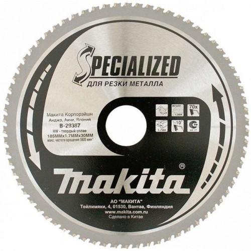 Купить Пильный диск для металла,185x30x1.3x70T, MAKITA, B-29387