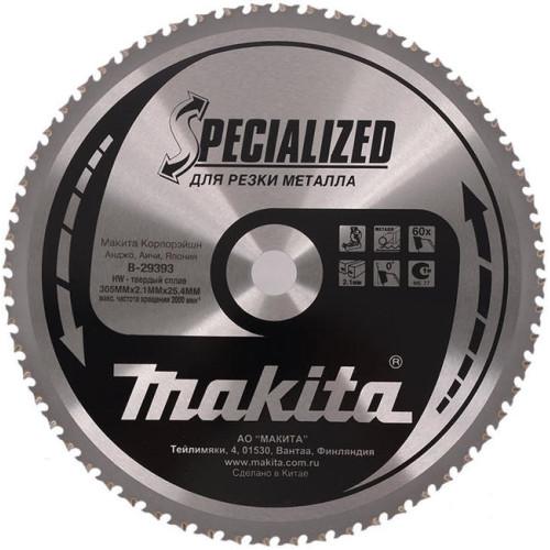 Пильный диск для металла,305x25.4x1.7x60T, MAKITA, B-29393