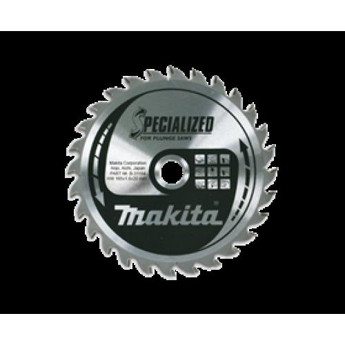 Пильный диск для дерева,165x20x1x40T (для аккум. инструмента), MAKITA, B-31164