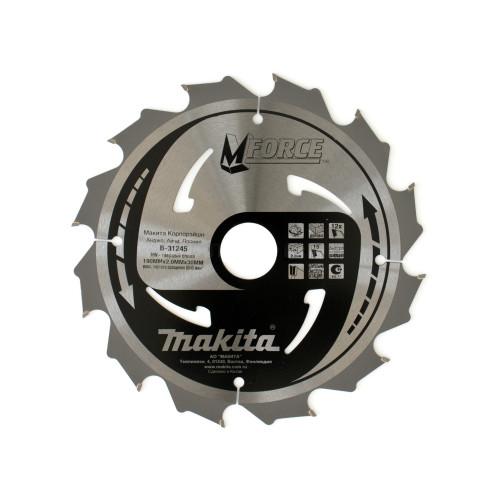 Пильный диск для дерева M-FORCE,190x30/20/15.88x1.2x12T, MAKITA, B-31245