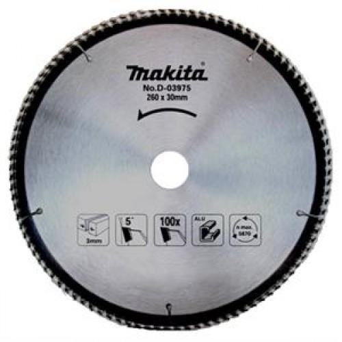 Пильный диск для алюминия 260x30x1.8x100T, MAKITA, D-03975
