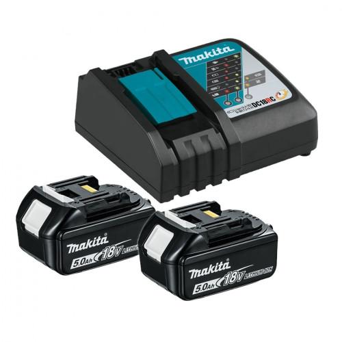 Аккумулятор BL1850B 5.0 Ah (2шт) + зарядное DC18RC Makita (191L74-5)