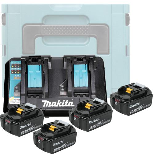 Аккумулятор BL1850B 5.0 Ah (4шт) + зарядное DC18RD Makita (199591-7)
