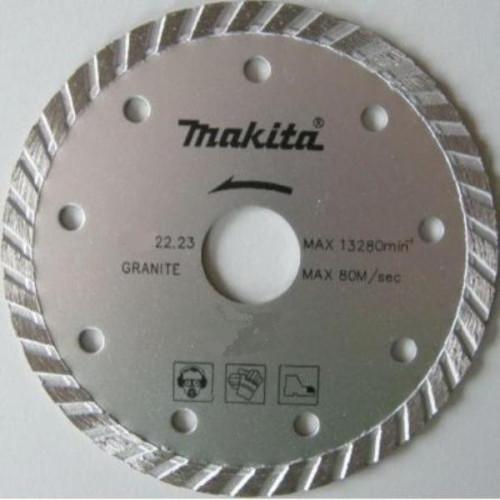 Алмазный диск сплошной рифленый по граниту Turbo 230x22,23, MAKITA, B-28070