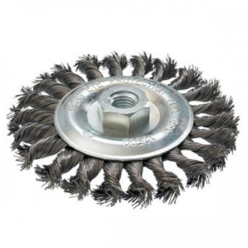 Щетка проволочная дисковая (d125 мм,толщ. проволоки 0,5 мм,M14x2), MAKITA, D-29577